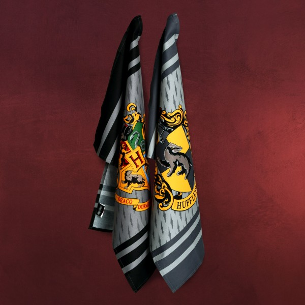 Harry Potter - Hufflepuff & Hogwarts Geschirrtücher Set