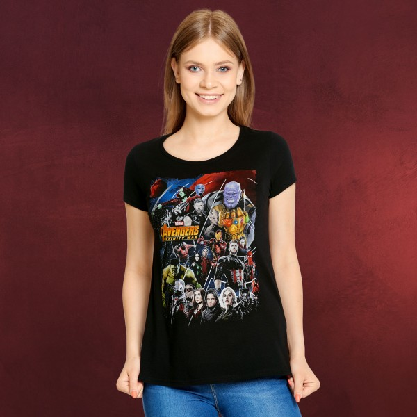 Avengers - Infinity War Collage T-Shirt Damen schwarz