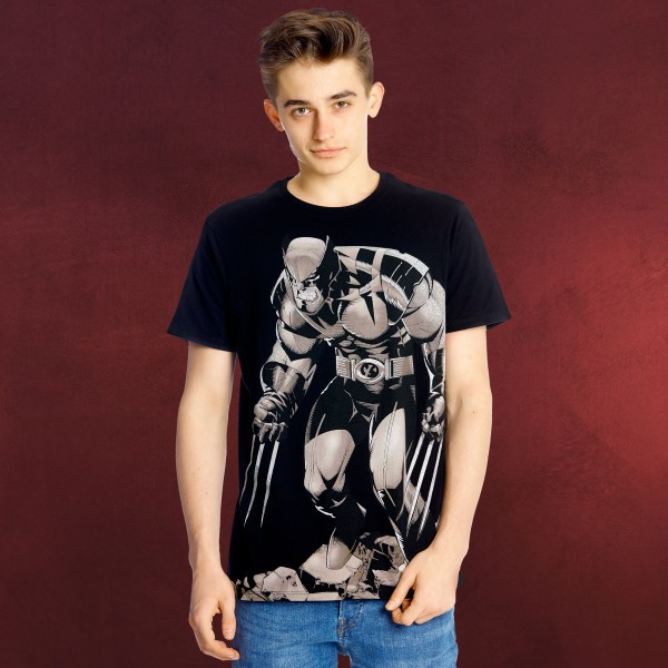 Wolverine - Claws Full Size T-Shirt schwarz