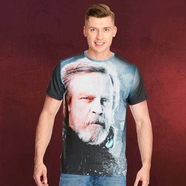 Star Wars T-Shirt - Last Jedi Luke Skywalker schwarz