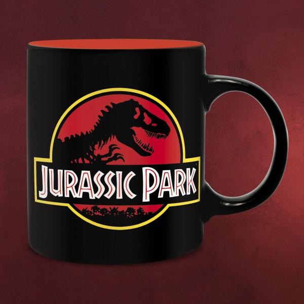 Jurassic Park - T-Rex & Logo Tasse