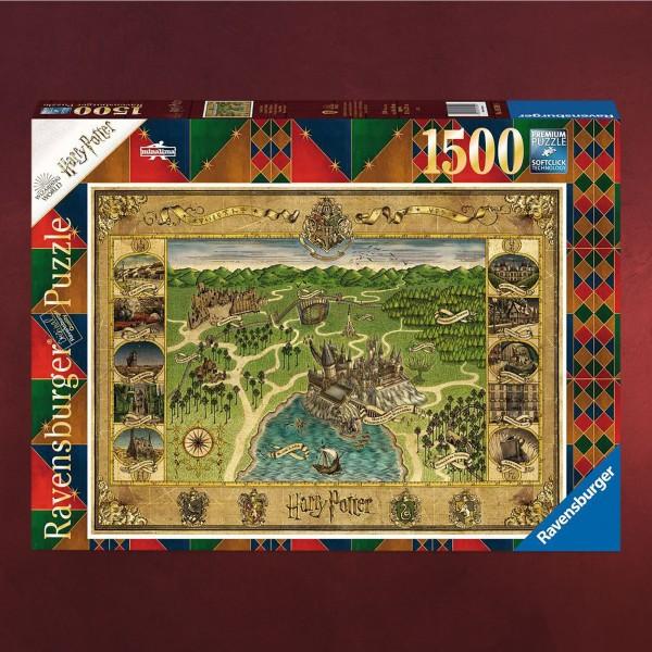 Harry Potter - Hogwarts Karte Puzzle 1500 Teile