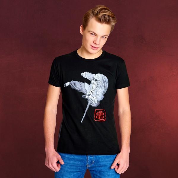 Dragon Ball Z - Muten Roshi Kick T-Shirt schwarz