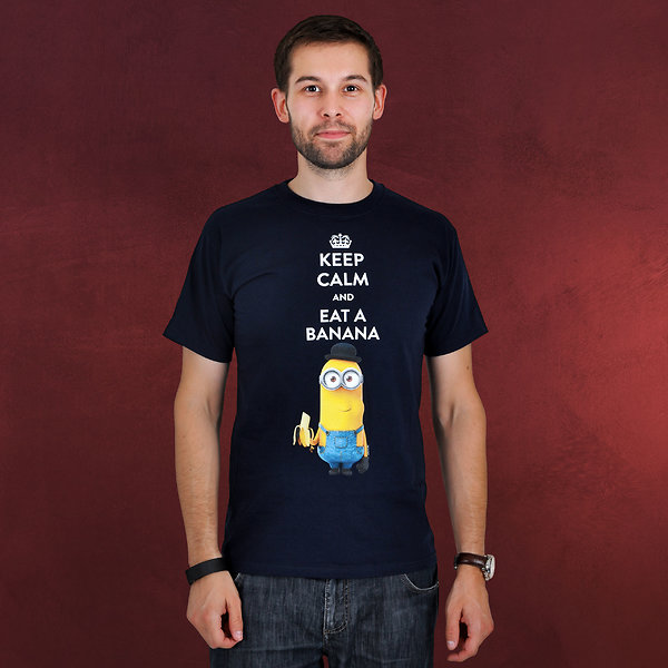 Minions - Keep Calm T-Shirt blau
