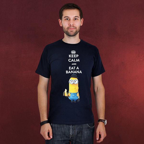 Minions - Keep Calm T-Shirt blau