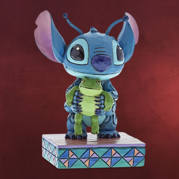 Lilo & Stitch - Stitch Figur mit Frosch