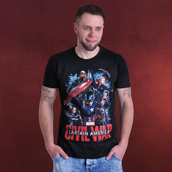 Civil War - Captains Team T-Shirt schwarz
