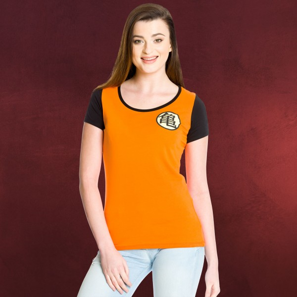 Dragon Ball - Kame Symbol Girlie Shirt orange