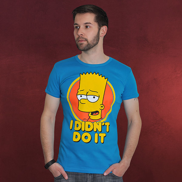 Simpsons - I didn't do it! Bart Simpson T-Shirt türkis