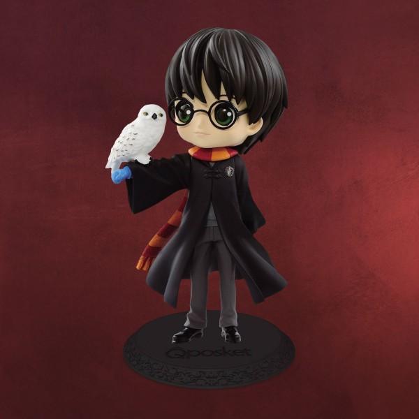 Harry Potter mit Hedwig Q Posket Figur 14 cm