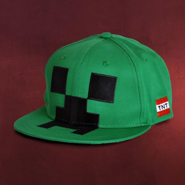 Minecraft - Creeper Snapback Cap für Kinder grün
