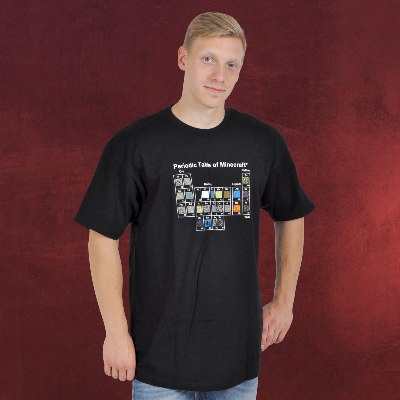 Minecraft T Shirt Periodensystem Elbenwald