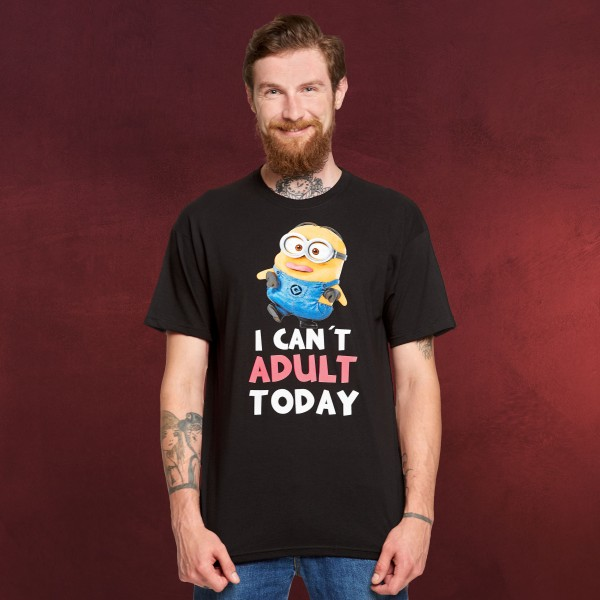 Minions - No Adult Today T-Shirt schwarz
