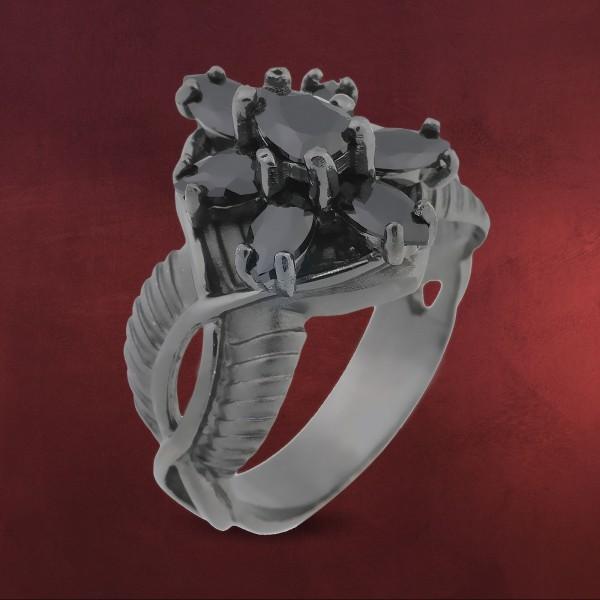 Arwens Abendstern Ring schwarz Dark Years Collection