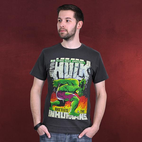 Hulk - Marvel Poster T-Shirt grau