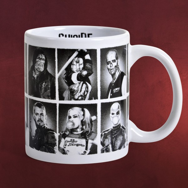 Suicide Squad - Characters Tasse weiß