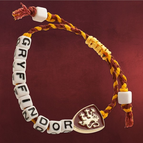 Harry Potter - Gryffindor Cube Bead Armband