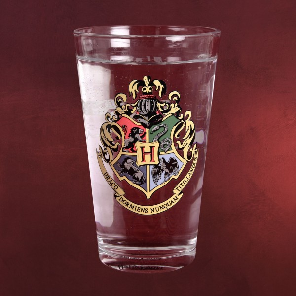 Harry Potter - Hogwarts Wappen Farbwechsel Glas