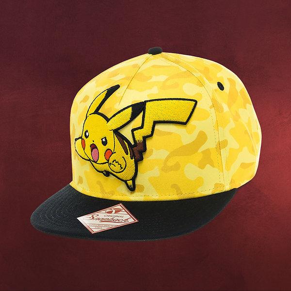 Pokemon - Pikachu Camo Snapback Cap gelb