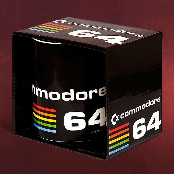 Commodore 64 - Logo Tasse schwarz
