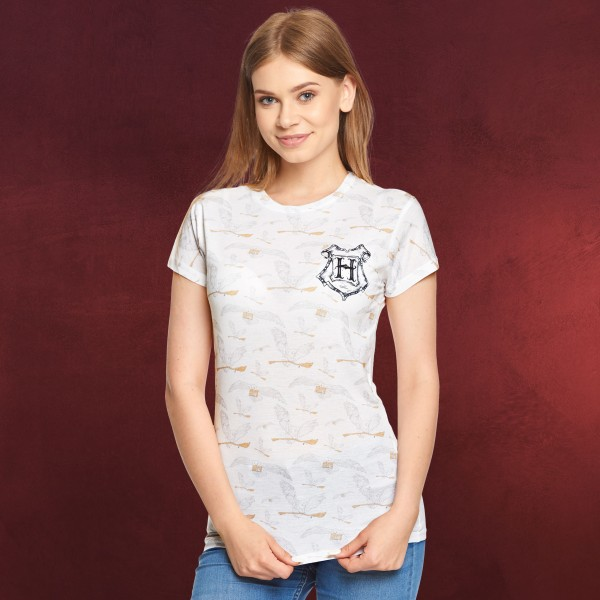 Harry Potter - Hedwig T-Shirt Damen weiß