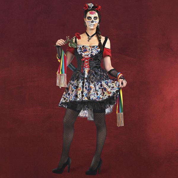 Mexikanerin Kostüm Día de los Muertos