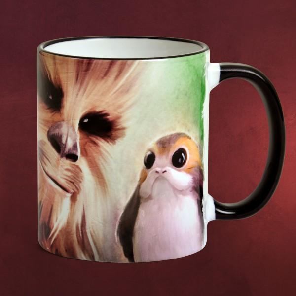Star Wars - Porgs und Chewie Tasse