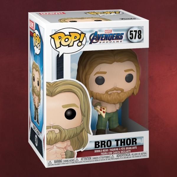 Avengers - Bro Thor mit Pizza Endgame Funko Pop Wackelkopf-Figur