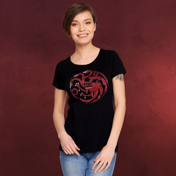 Game of Thrones - House Targaryen Wappen T-Shirt Damen