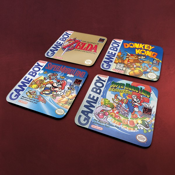 Nintendo - Game Boy Classic Games Untersetzer 4er Set