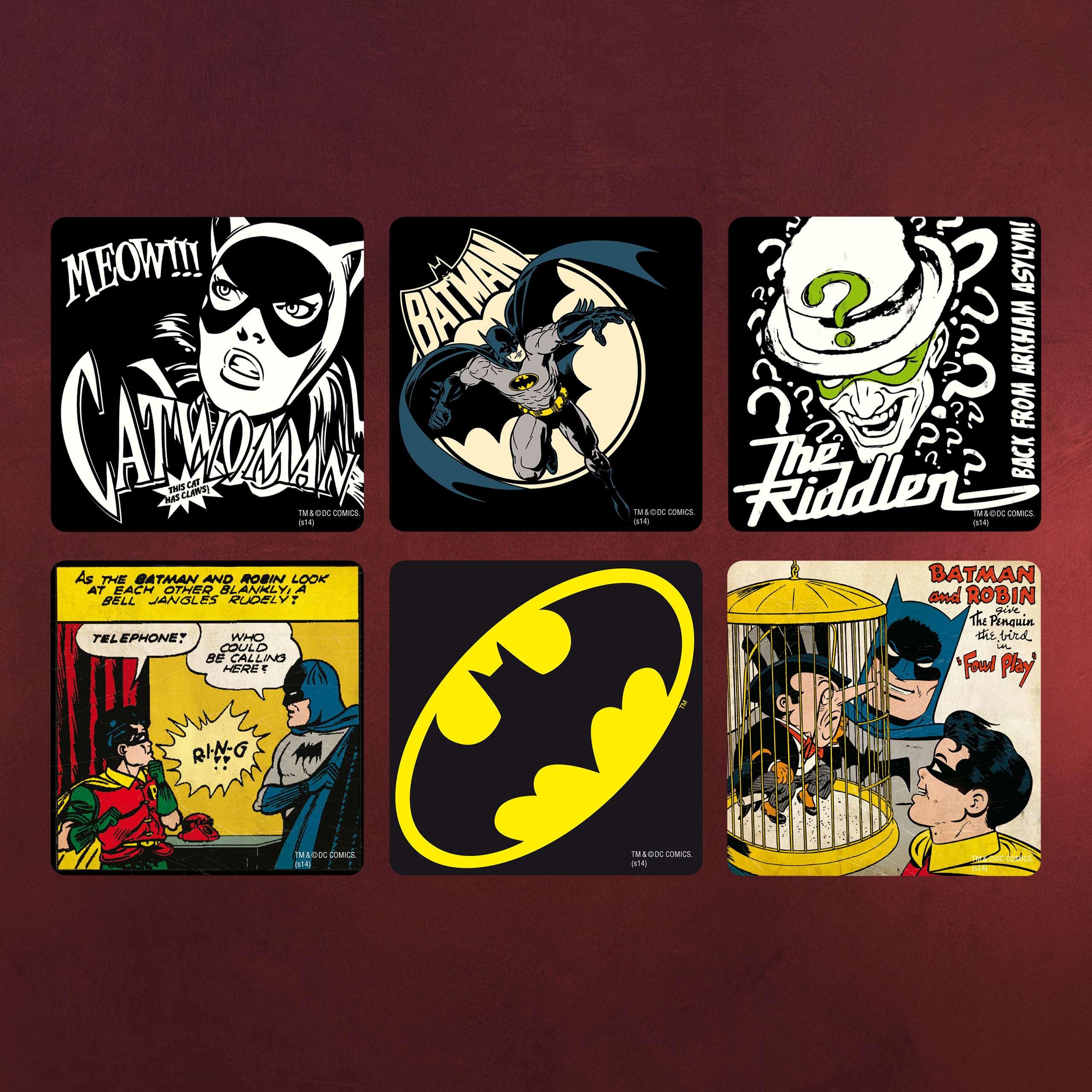 Batman - Comic Untersetzer 6er Set | Elbenwald