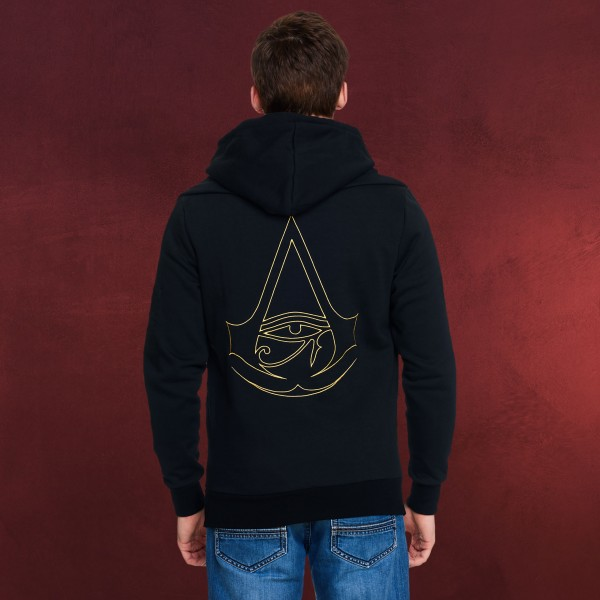 Assassins Creed - Origins Logo Kapuzenjacke doppellagig schwarz