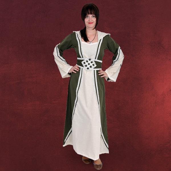 Cassandra Mittelalter Kleid natur-oliv