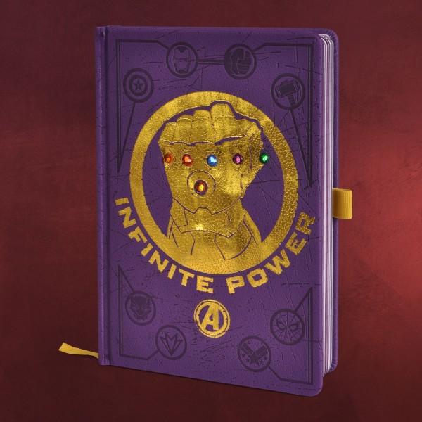 Avengers - Infinity Gauntlet Premium Notizbuch A5 mit Leuchteffekt