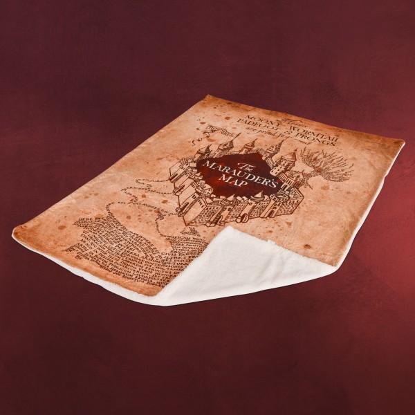 Harry Potter - Karte des Rumtreibers Flauschdecke mit Teddyfell