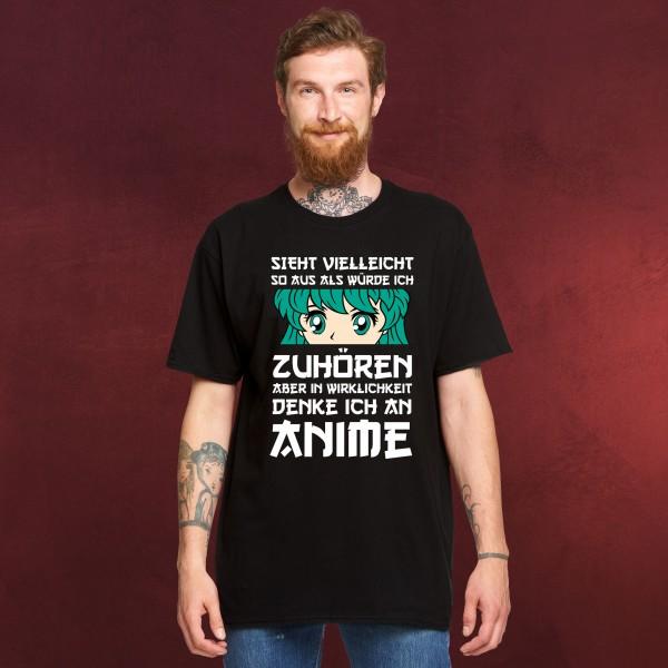 Ich denke an Anime T-Shirt schwarz