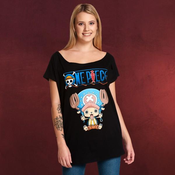 One Piece - Chopper T-Shirt Damen Loose Fit schwarz