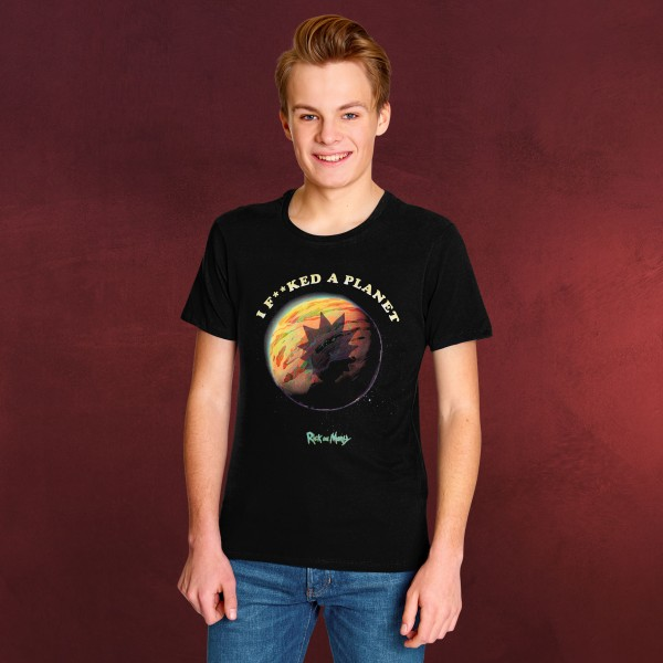 Rick and Morty - Planet T-Shirt schwarz