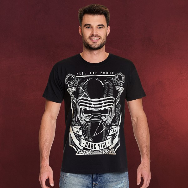 Star Wars - Feel The Power of The Dark Side T-Shirt schwarz