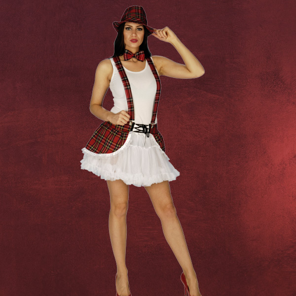 Sexy Schottenrock mit Petticoat