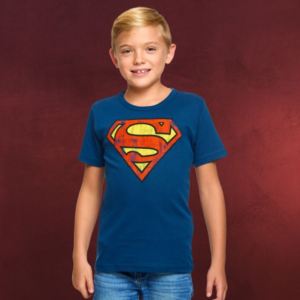 Superman Logo Kinder T-Shirt