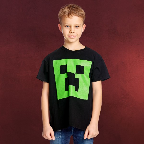 Minecraft - Glow in the Dark Creeper Kinder T-Shirt
