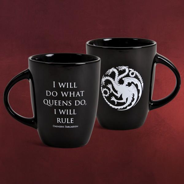 Game of Thrones - I Will Rule Noble Words Tasse schwarz