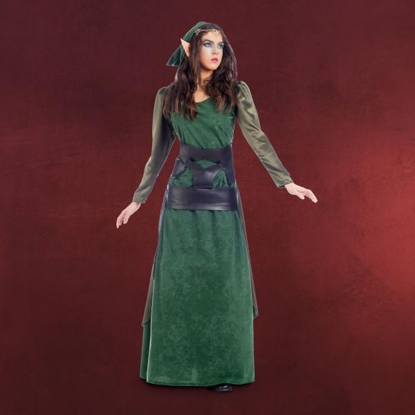 Grüne Waldelfe - Kostüm Damen