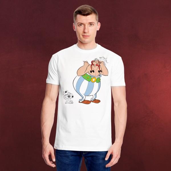Asterix - Obelix und Idefix T-Shirt weiß