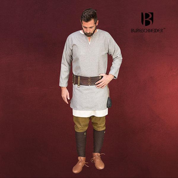 Mittelalter Wolltunika Lodin grau