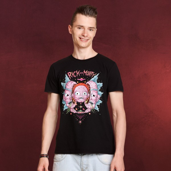 Rick and Morty - Head Split T-Shirt schwarz