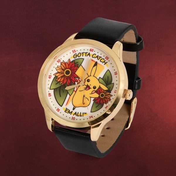 Pokemon - Pikachu Flowers Armbanduhr