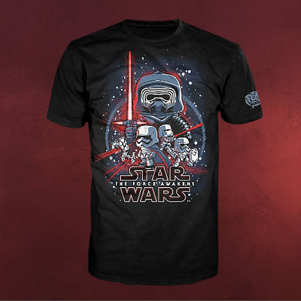 Star Wars - The Force Awakens Pop! T-Shirt schwarz