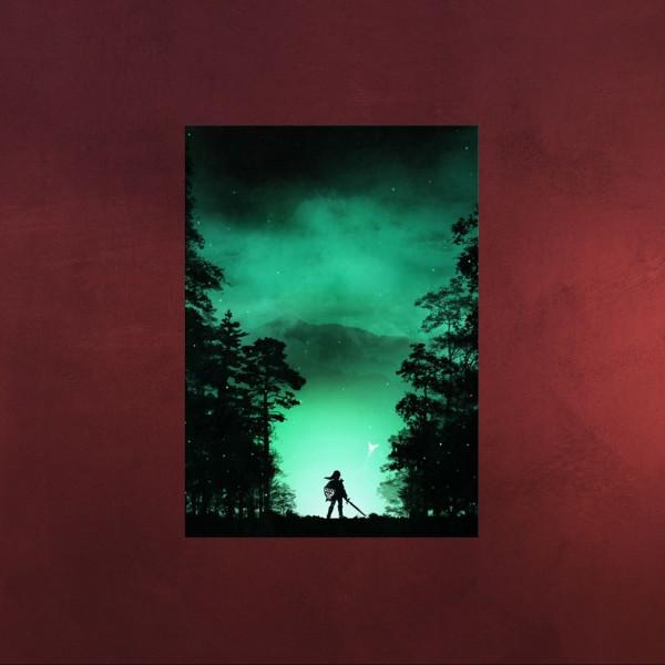 Kokiri Wald Mini Metall Poster für Zelda Fans